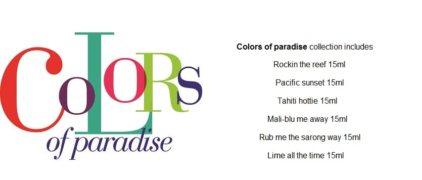 Gelish Colors of Paradise