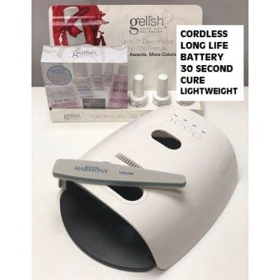 Gel Nail Professional Starter Kit with 30 second cordless LED Lamp