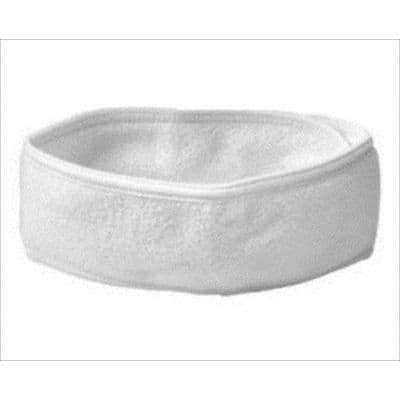 Terry Toweling White Headband 2pkt