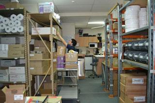 Australian waxing company stock room image